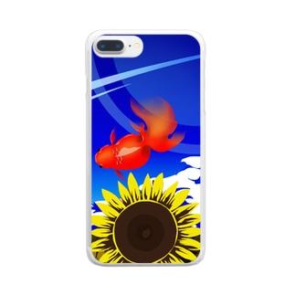 向日葵金魚 Clear smartphone cases
