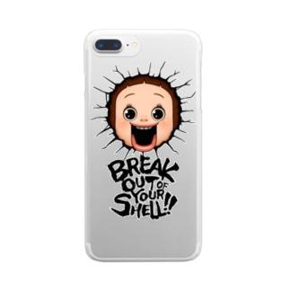ブレイクしょーちゃん - スケルトン Clear smartphone cases