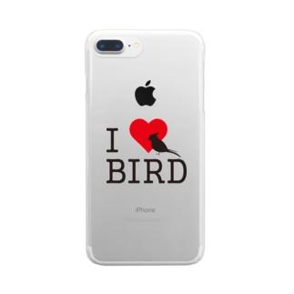 アイラブバード 復刻版 Clear smartphone cases
