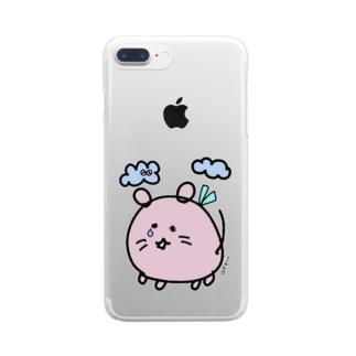 """かなしみのデグー""""いつも一緒にいたいから"""" Clear smartphone cases"""