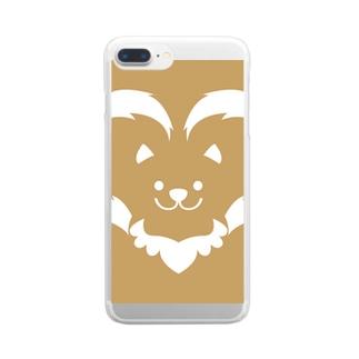 わんこ Clear smartphone cases