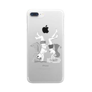 20180519逆立ち withなの&げーむやかん Clear smartphone cases