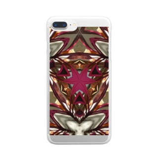 redplant mandala Clear smartphone cases