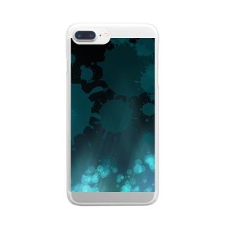 蒼き空間 Clear smartphone cases