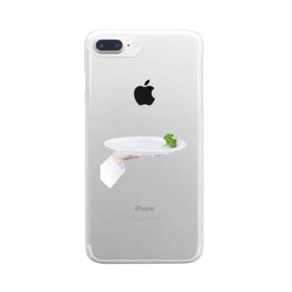皿に残ったパセリ Clear smartphone cases