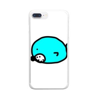 まんまるゴマちゃん Clear smartphone cases