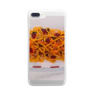 ガラスのパスタ Clear smartphone cases