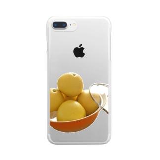 文旦なべ Clear smartphone cases