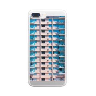ウェスアンダーソンのようなハワイのリゾートホテル Clear smartphone cases