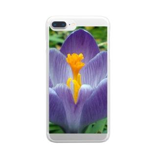 早春の朝 Clear smartphone cases
