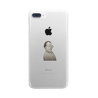 ちびでぶはげめがね Clear smartphone cases