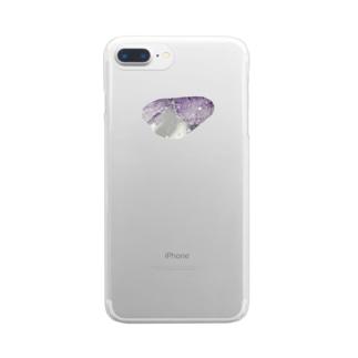 むらさきの砂糖 Clear smartphone cases