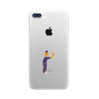 ペルリンのヒットマン Clear smartphone cases