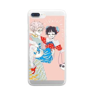 なんちゃってチャイナ Clear smartphone cases
