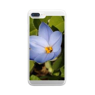 空色を映したハナビラ Clear smartphone cases