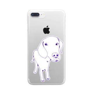 ラブラドール Clear smartphone cases