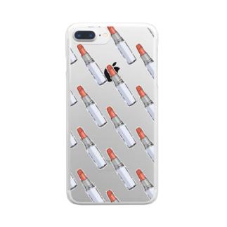 ルージュ Clear smartphone cases