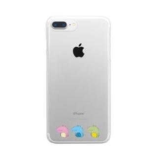 なかよしなかえるたち Clear smartphone cases