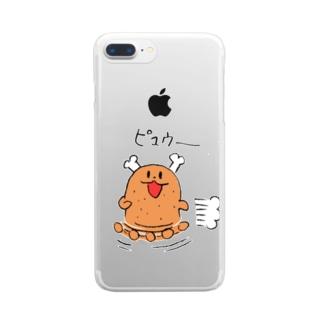 走るよ肉ボーン Clear smartphone cases