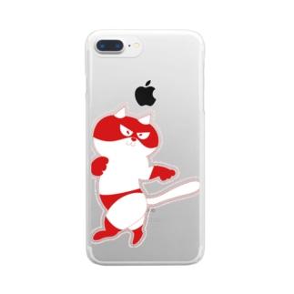 猫拳法にゃんた Clear smartphone cases