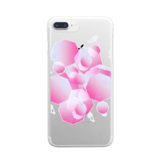 あたらしいまちのグッズのちほうとし Clear smartphone cases
