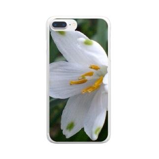白雪の様に Clear smartphone cases