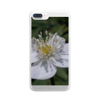 純白の心と・・・ Clear smartphone cases