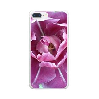 美しさのダブルフラワーズ Clear smartphone cases