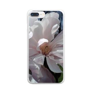 咲き焦がれて・・・ペールピンク Clear smartphone cases