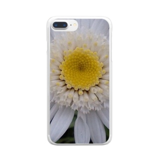 真っ白く・・・清らかに Clear smartphone cases
