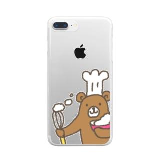 パティシエくまさん Clear smartphone cases