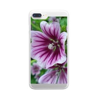 ハーブティー Clear smartphone cases