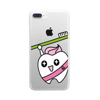 歯りきり Clear smartphone cases