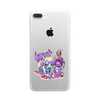 ゆけつ Clear smartphone cases