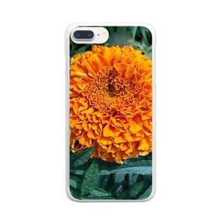 ポンポン咲きっ!! Clear smartphone cases