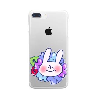 6月のうさぎ Clear smartphone cases