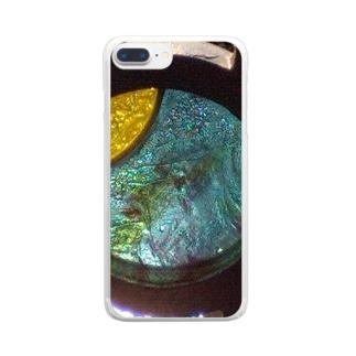 モニュメント・ブルー Clear smartphone cases