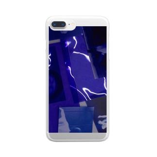 ぴかぴかむらさき Clear smartphone cases