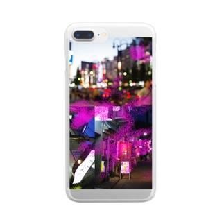 あるく新宿、夜のこと Clear smartphone cases