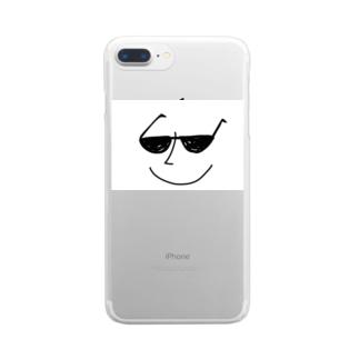 サングラス男 Clear smartphone cases