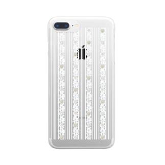 seastripe-snow Clear smartphone cases