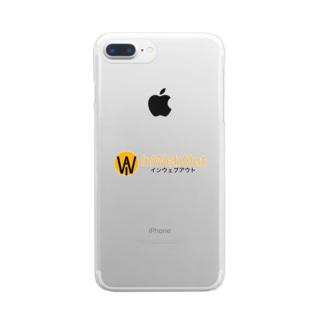 インウェブアウトオンラインストアのインウェブアウトロゴ小物 Clear smartphone cases