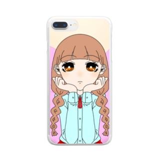 みつあみちゃん Clear smartphone cases