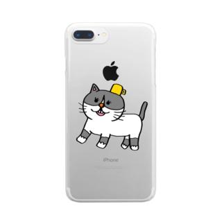 名もないネコ(仮) Clear smartphone cases