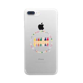 こびと人魚 Clear smartphone cases