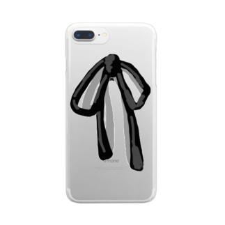シンプルリボン Clear smartphone cases
