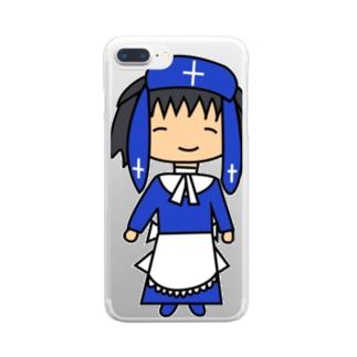 ゆるはなまるシスター Clear smartphone cases