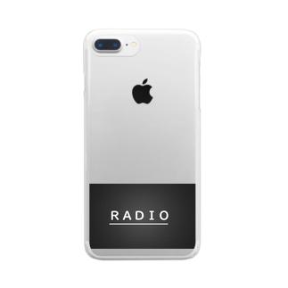 ラジオ 深夜 受験勉強 Clear smartphone cases