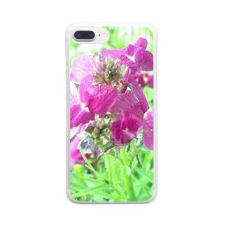 パープルの恋人 Clear smartphone cases