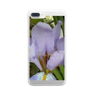 ペールヴァイオレット Clear smartphone cases